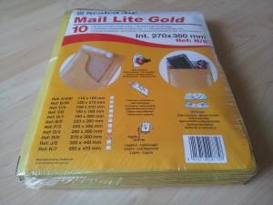 Buste Imbottite Mail Lite Gold – 12x21 cm